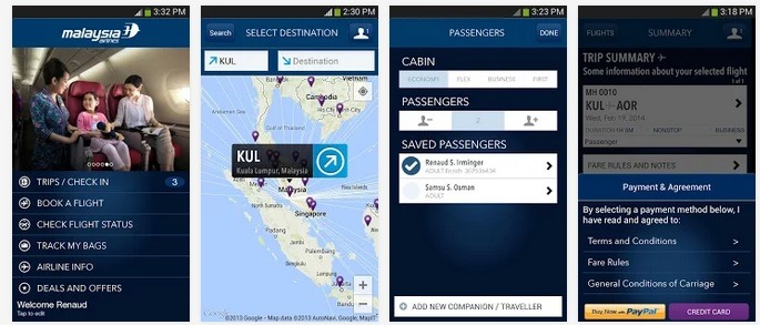 Download Malaysia Airlines Apple iPad iPhone Windows Phone