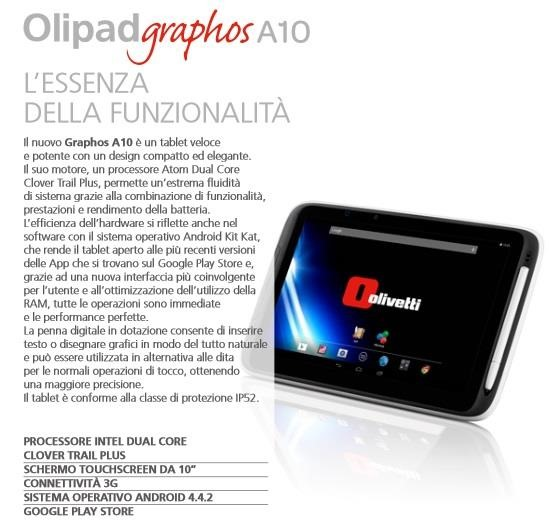 Olipad Graphos A10 specifications