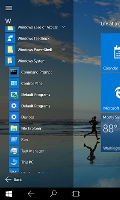 how to get control pannel on windows 10