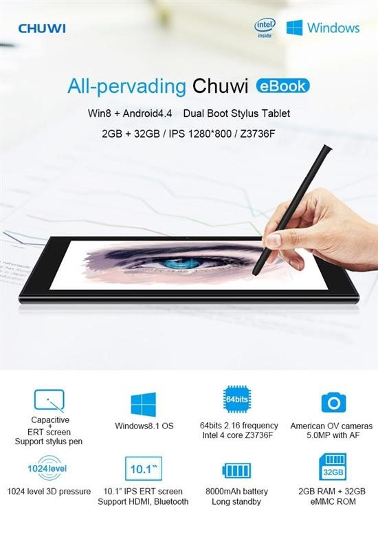 Chuwi Ebook Specs review
