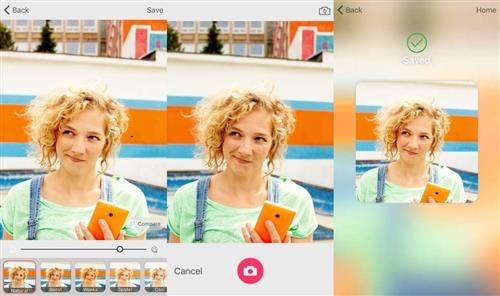 Microsoft Selfie App for iPhone