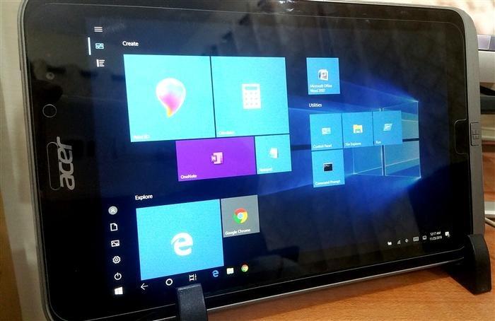 Acer W4 820 windows 10 installation
