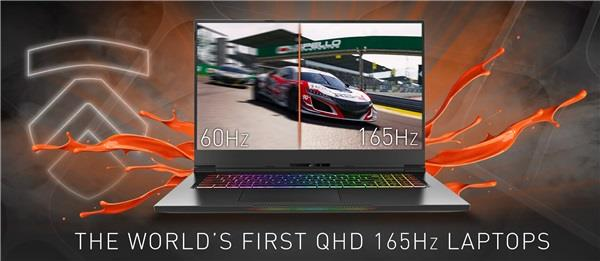 2K laptop with 165Hz refresh rate